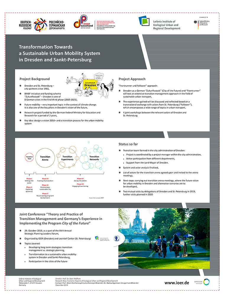 Transformation Towars a Sustainable Urban Mobility System in Dresden and Sankt-Petersburg